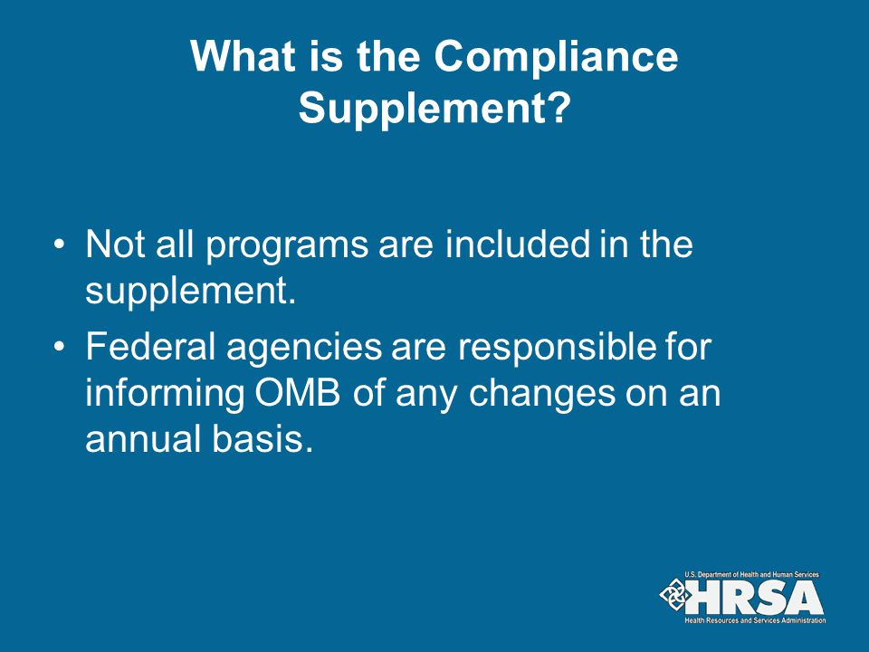 What is the Compliance Supplement