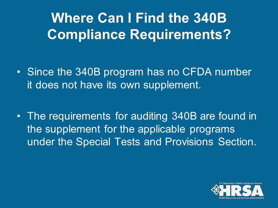 Where Can I Find the 340B Compliance Requirements