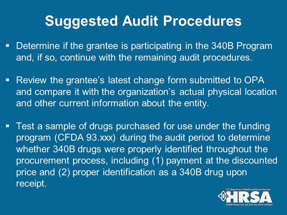 Suggested Audit Procedures