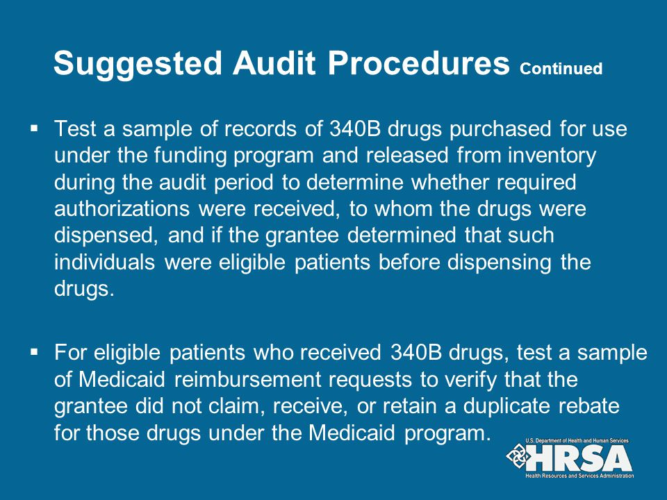 Suggested Audit Procedures Continued