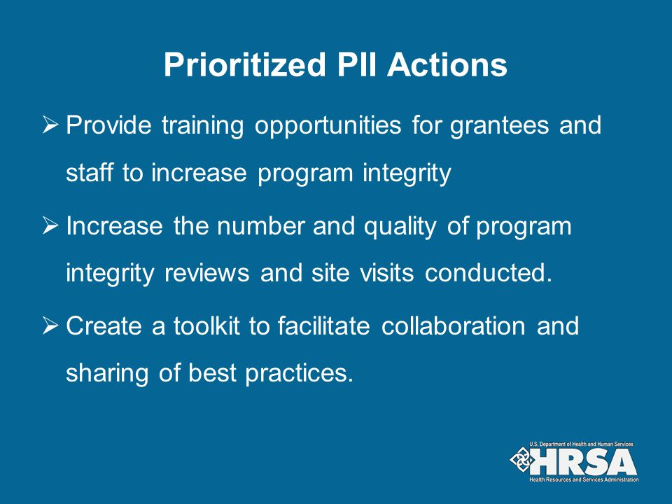 Prioritized PII Actions