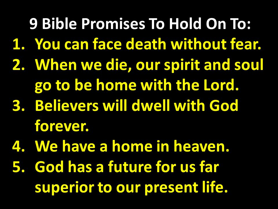9 Bible Promises To Hold On To:
