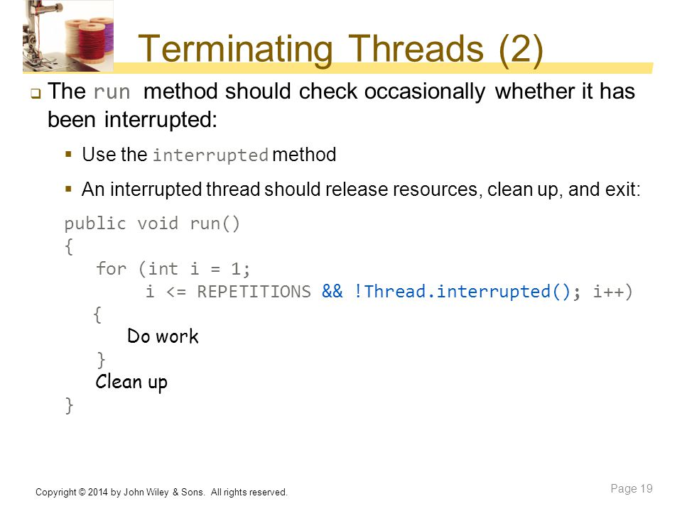 Terminating Threads (2)