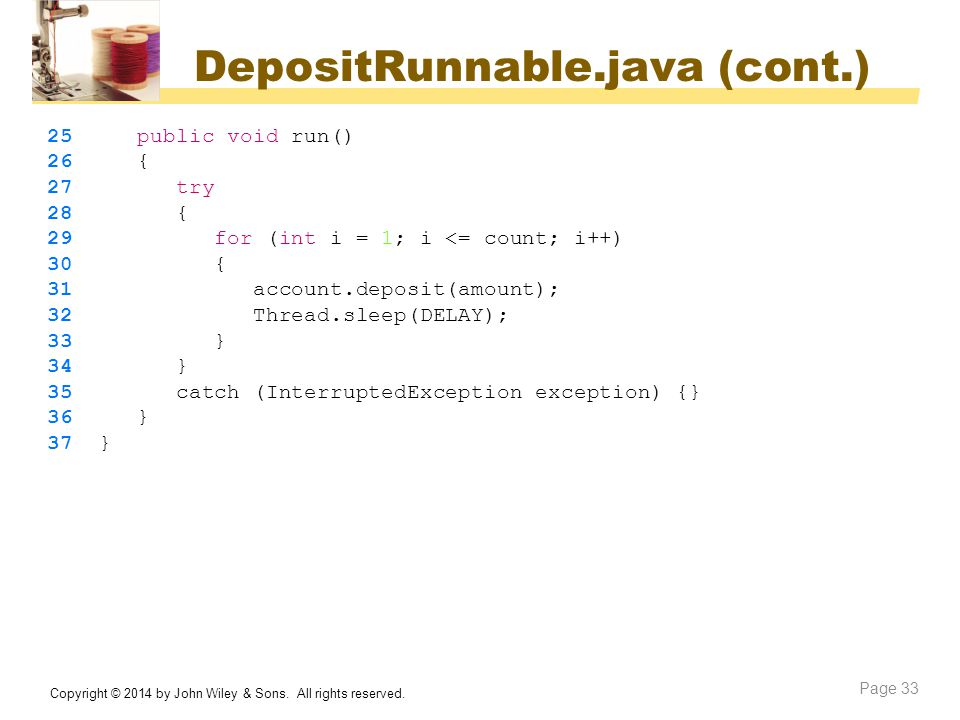 DepositRunnable.java (cont.)