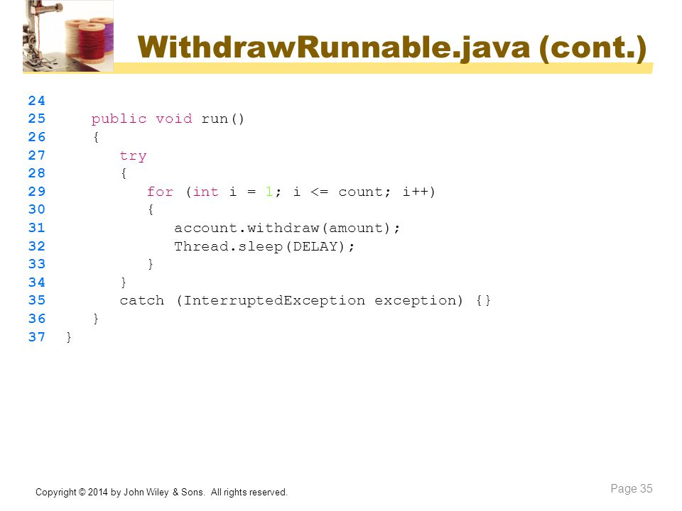 WithdrawRunnable.java (cont.)