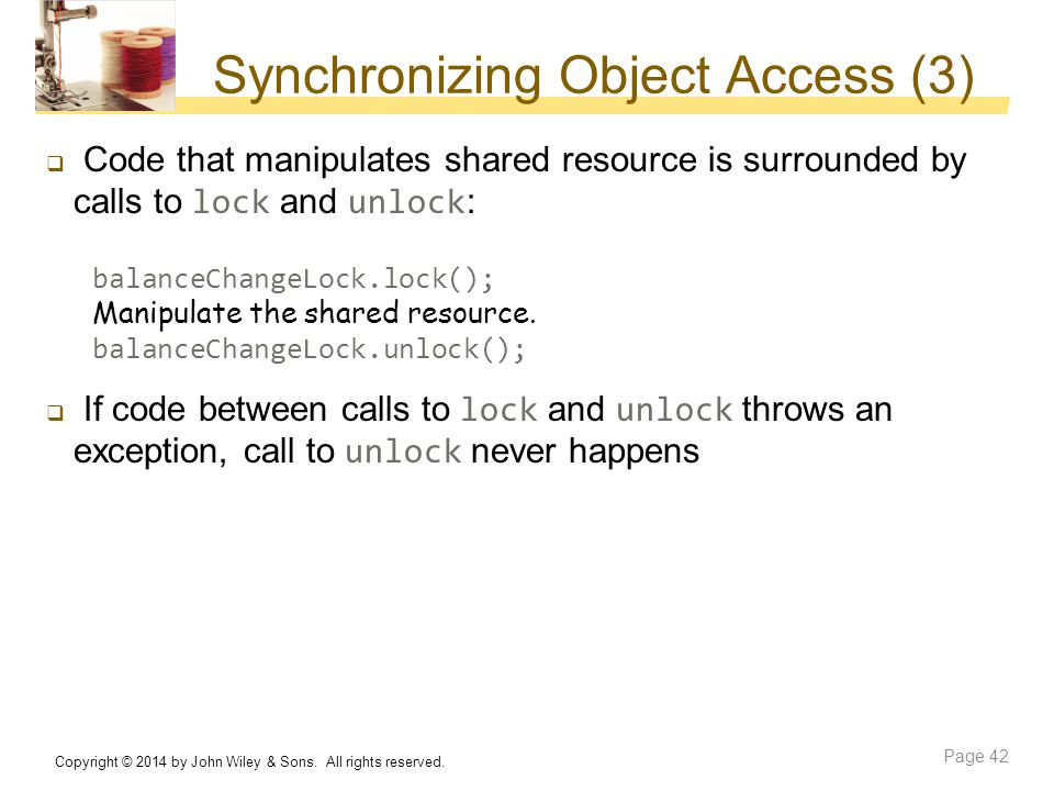 Synchronizing Object Access (3)