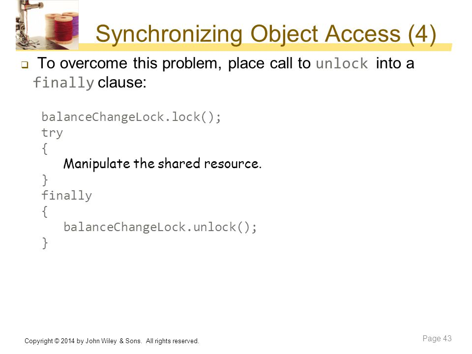 Synchronizing Object Access (4)