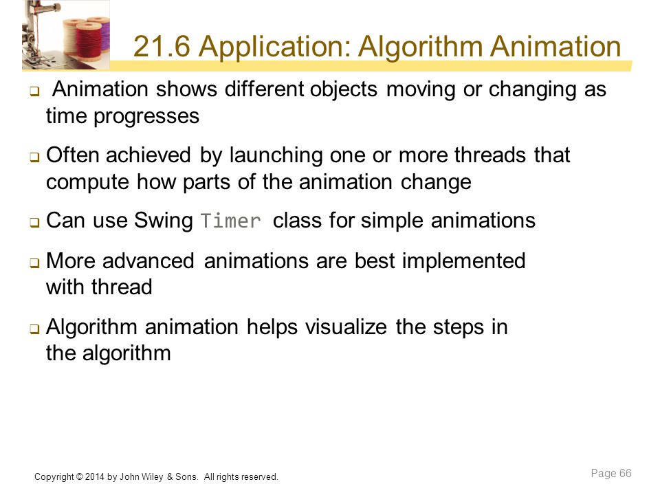 21.6 Application: Algorithm Animation
