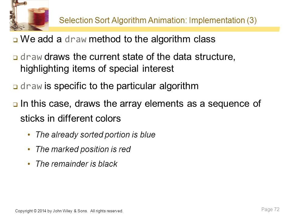 Selection Sort Algorithm Animation: Implementation (3)