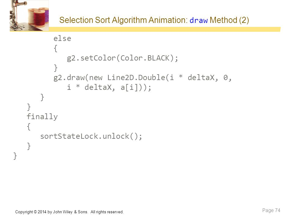 Selection Sort Algorithm Animation: draw Method (2)