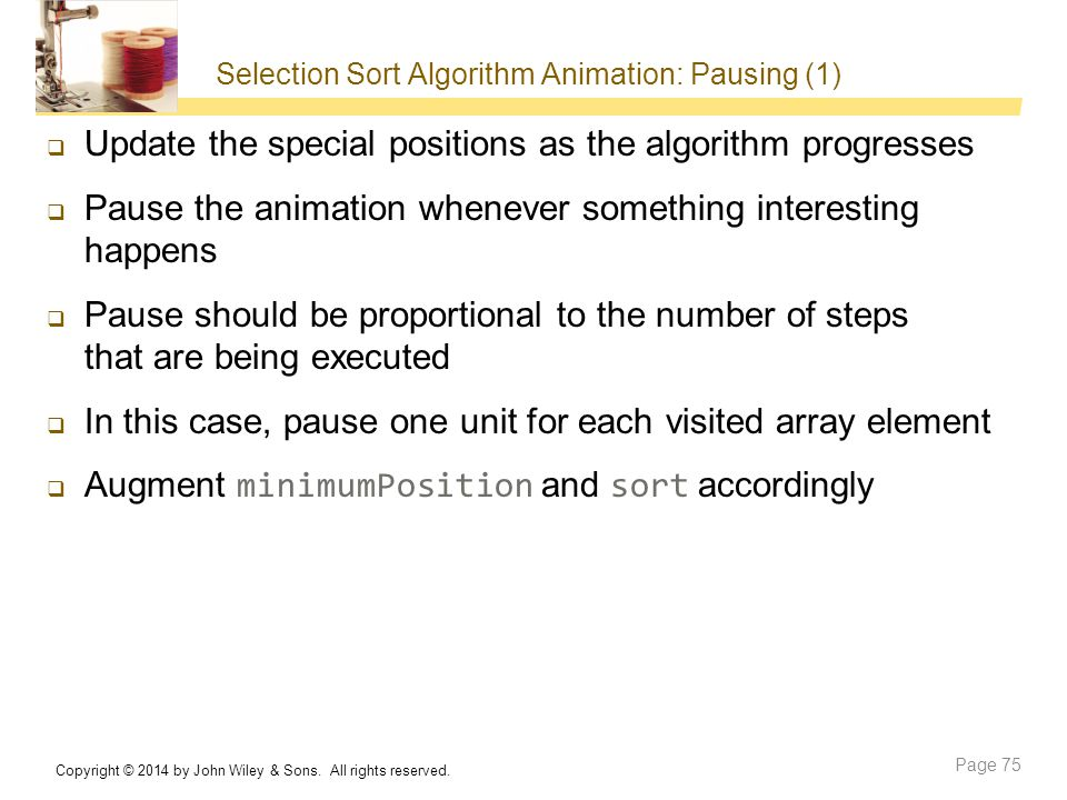 Selection Sort Algorithm Animation: Pausing (1)