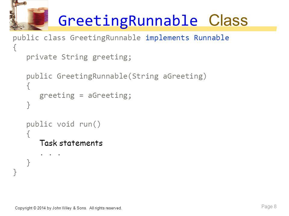 GreetingRunnable Class