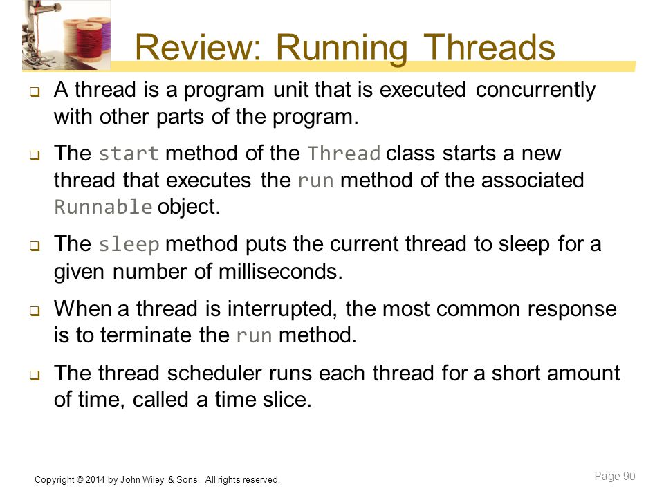 Review: Running Threads