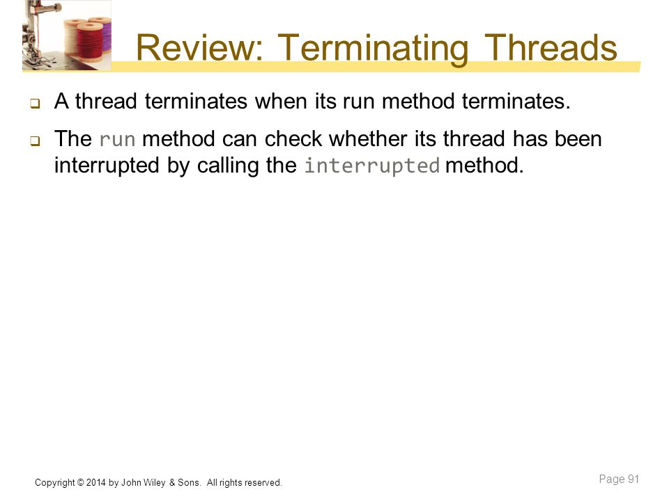 Review: Terminating Threads