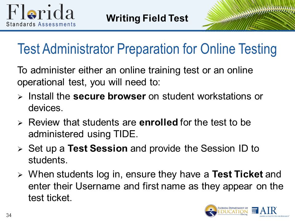 Test Administrator Preparation for Online Testing