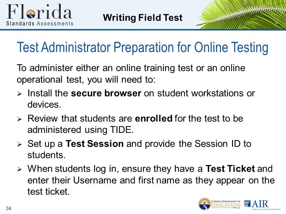 Test Administrator Preparation for Online Testing