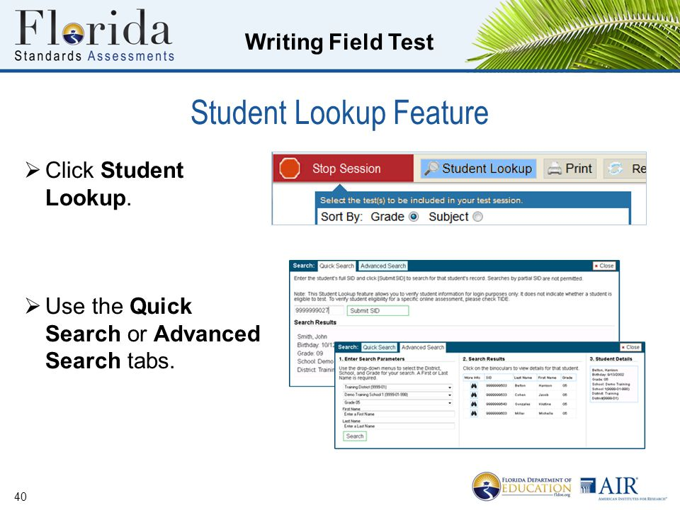 Student Lookup Feature