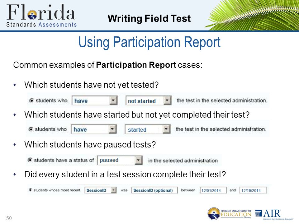 Using Participation Report