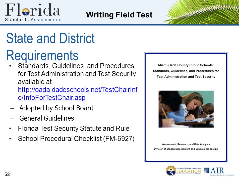 State and District Requirements