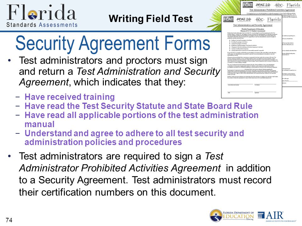 Security Agreement Forms