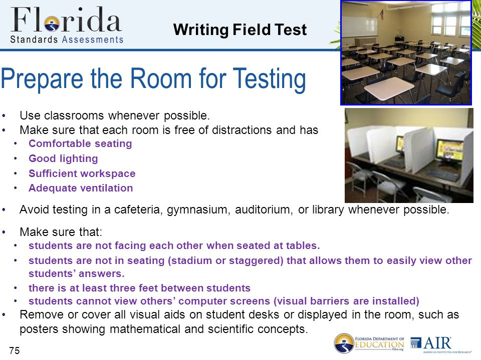 Prepare the Room for Testing