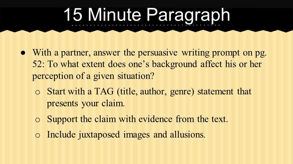 15 Minute Paragraph