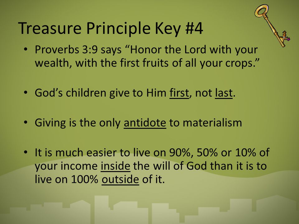 Treasure Principle Key #4