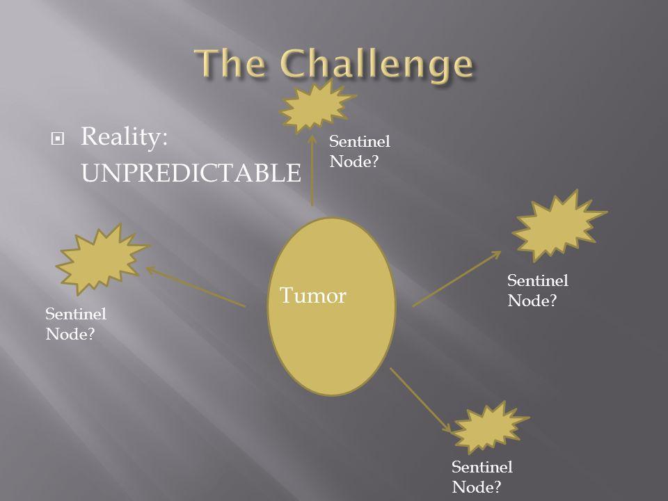 The Challenge Reality: UNPREDICTABLE Tumor Sentinel Node