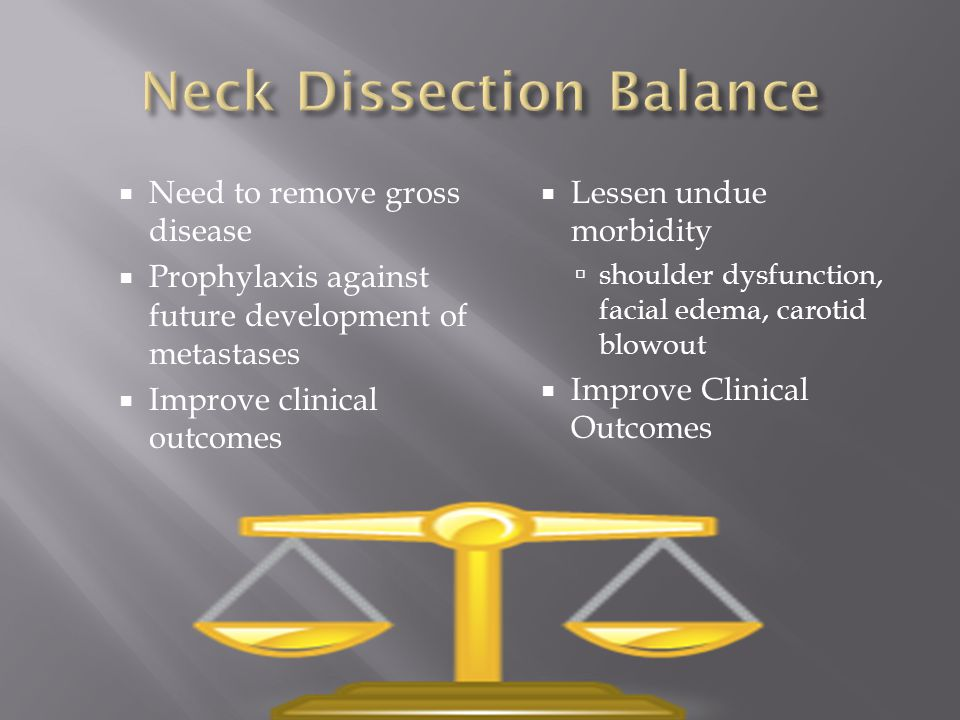 Neck Dissection Balance