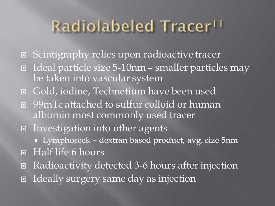 Radiolabeled Tracer11 Scintigraphy relies upon radioactive tracer