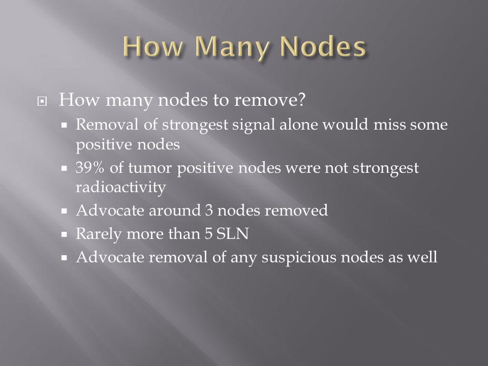 How Many Nodes How many nodes to remove