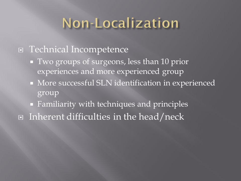 Non-Localization Technical Incompetence