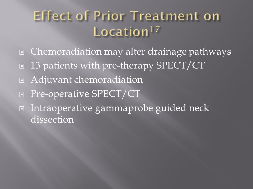 Effect of Prior Treatment on Location17