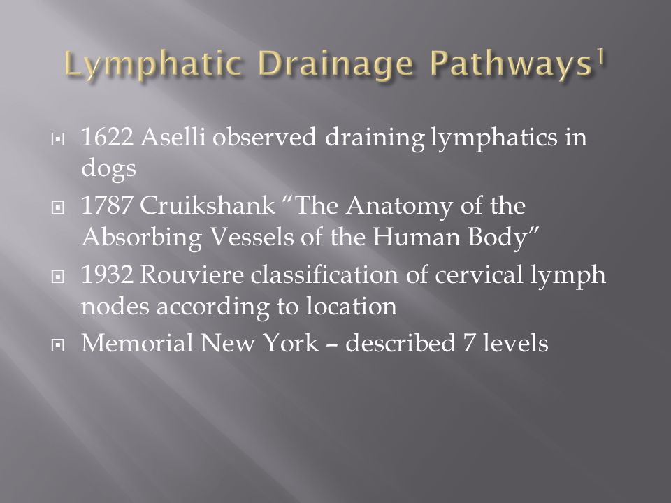 Lymphatic Drainage Pathways1