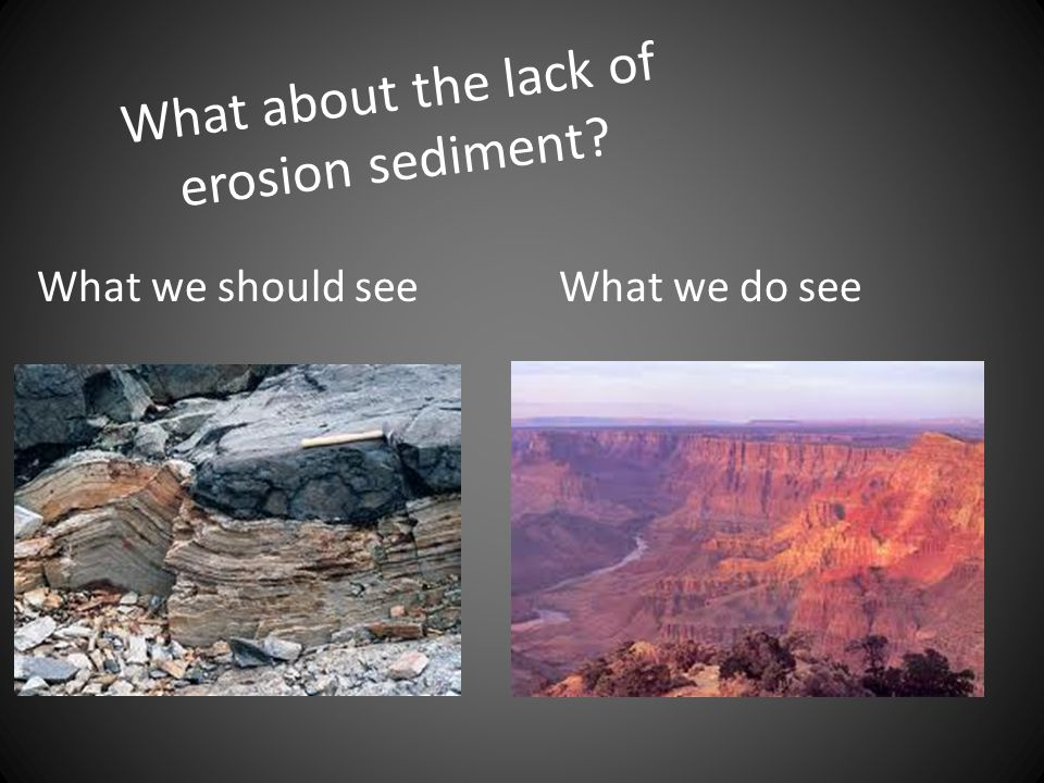 What about the lack of erosion sediment