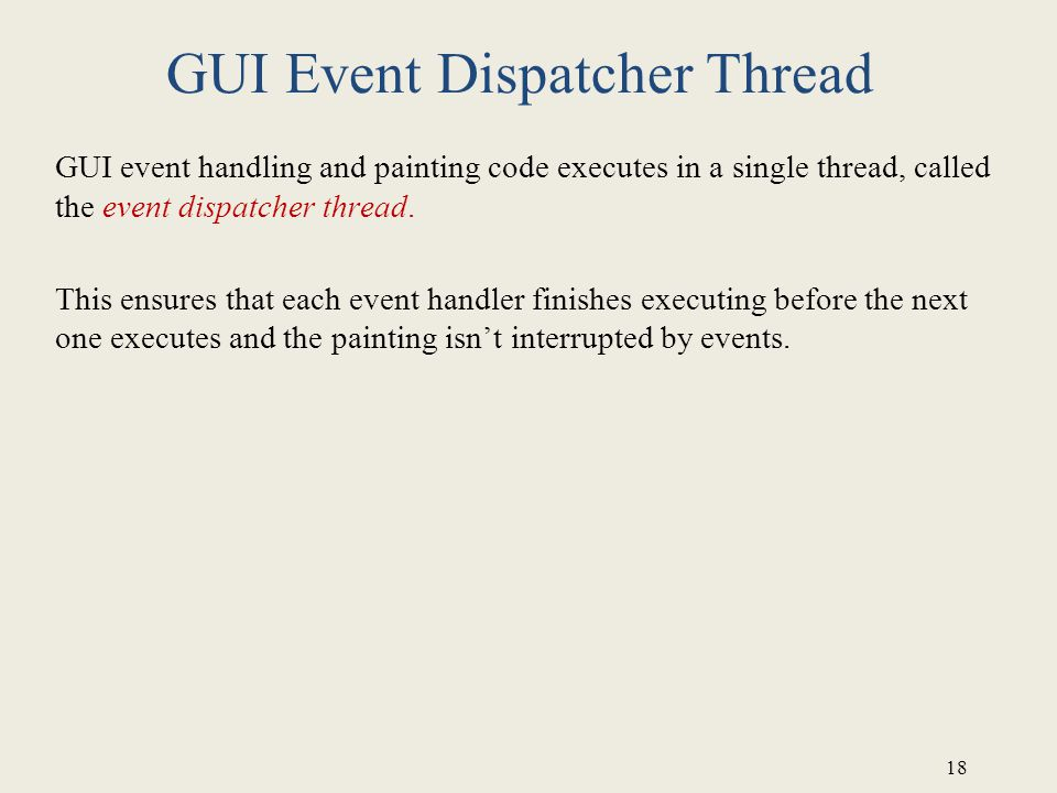 GUI Event Dispatcher Thread