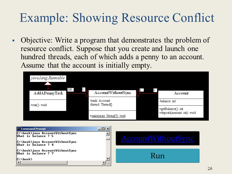 Example: Showing Resource Conflict
