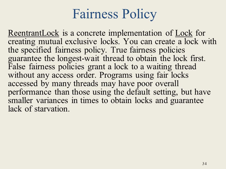 Fairness Policy