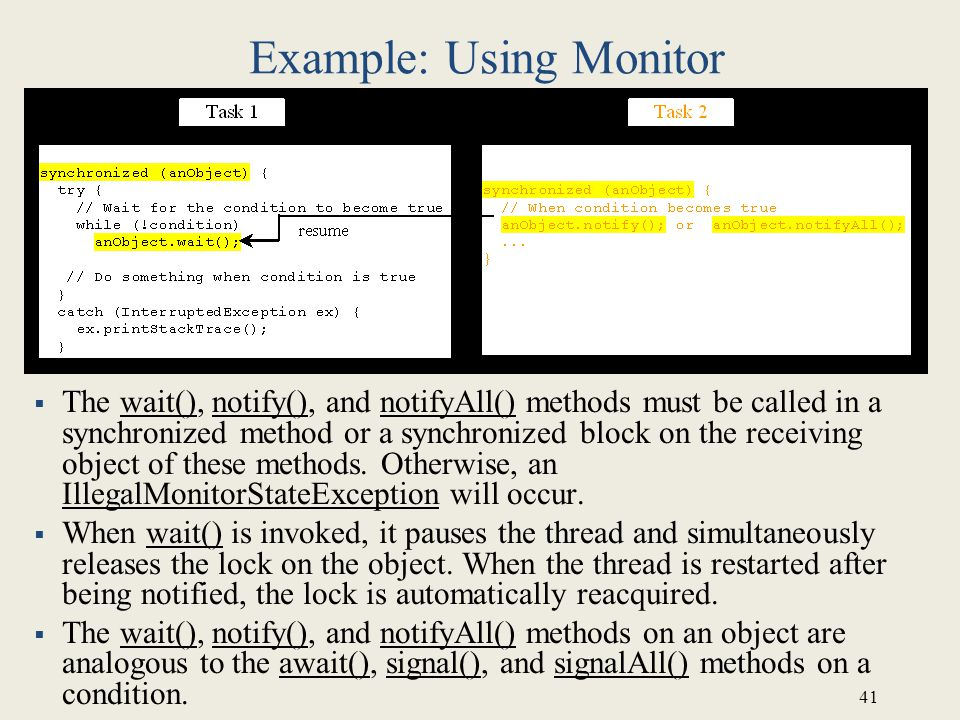 Example: Using Monitor