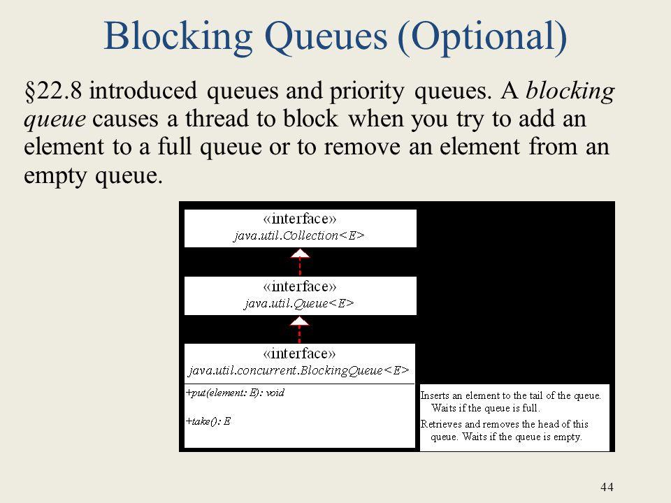 Blocking Queues (Optional)
