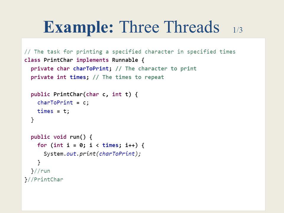 Example: Three Threads 1/3