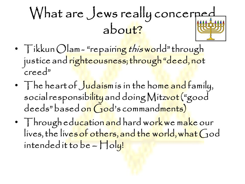 What are Jews really concerned about