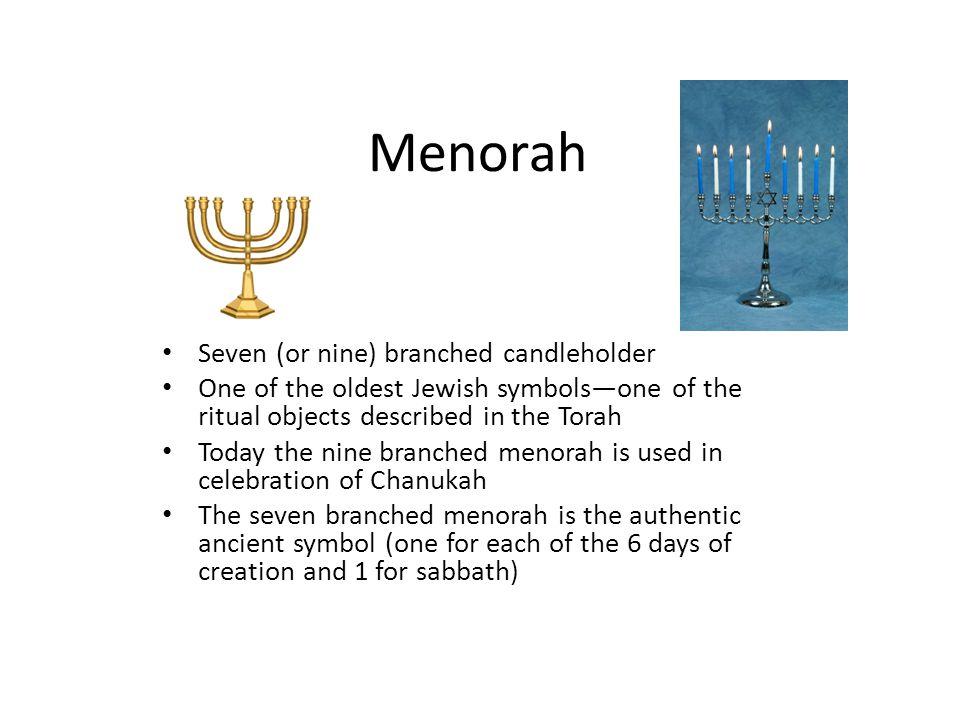 Menorah Seven (or nine) branched candleholder