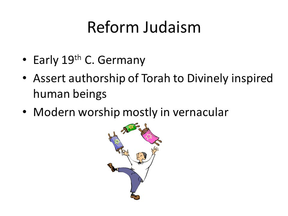 Reform Judaism Early 19th C. Germany