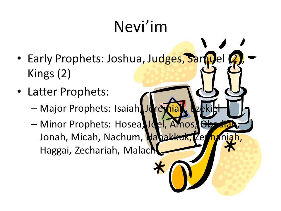 Nevi'im Early Prophets: Joshua, Judges, Samuel (2), Kings (2)