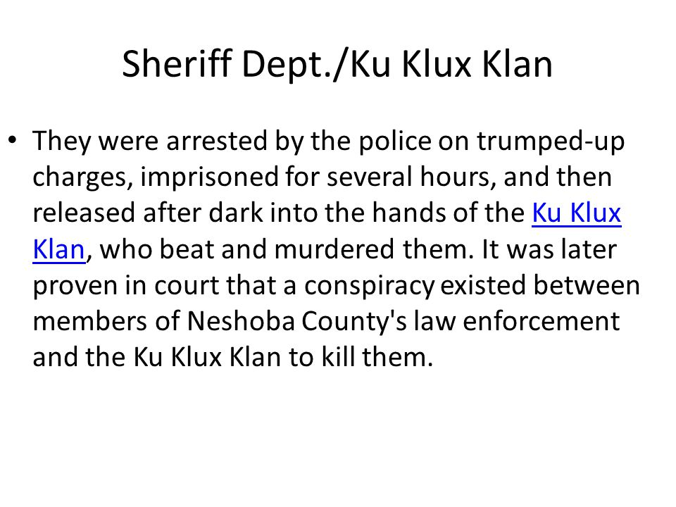 Sheriff Dept./Ku Klux Klan