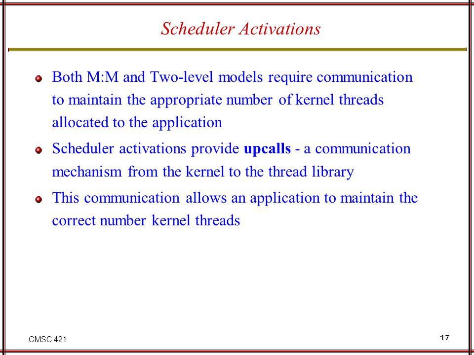 Scheduler Activations