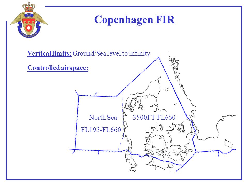 Copenhagen FIR Vertical limits: Ground/Sea level to infinity
