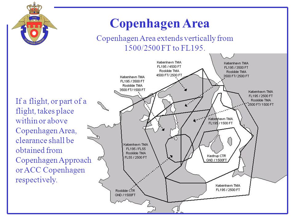 Copenhagen Area extends vertically from 1500/2500 FT to FL195.