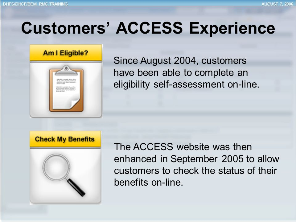 Customers' ACCESS Experience